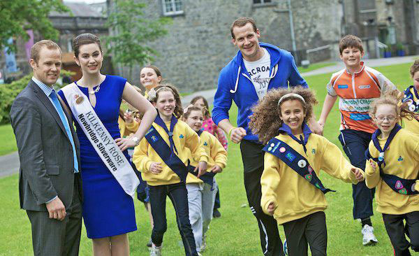 Kilkenny Rose of Tralee (Serendipity Boutique), with Kilkenny Hurlers
